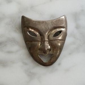 VTG Drama mask brooch